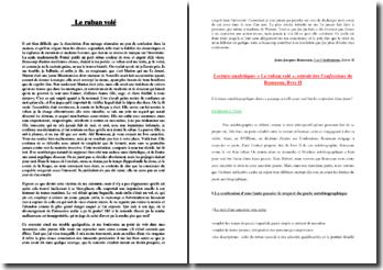 Rousseau, Confessions, Livre II : le ruban volé