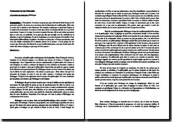 Heidegger, La science ne pense pas : commentaire