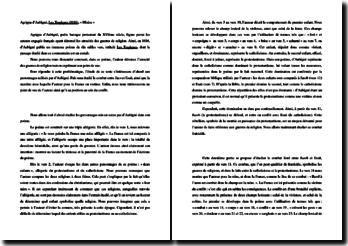 Agrippa d'Aubigné, Les Tragiques, Livre I : Les Misères : commentaire