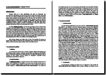 François Villon, L'Épitaphe Villon ou la Ballade des pendus