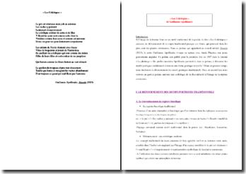 Apollinaire, Les Colchiques : commentaire