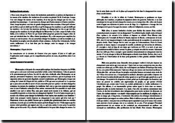 Montesquieu, L'Esprit des lois : Explication de texte