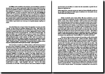 Zola, La Curée, chapitre III : Mme Sidonie : commentaire