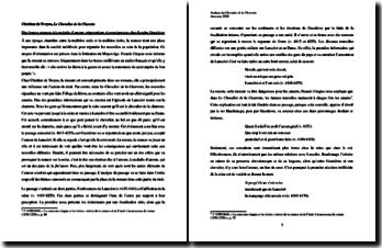 Chrétien de Troyes, Le Chevalier de la Charette, vv. 4115-4255 : Des fausses rumeurs à la maladie d'amour : commentaire
