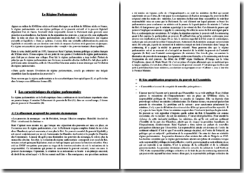 René Capitant, L'évolution du régime parlementaire : commentaire