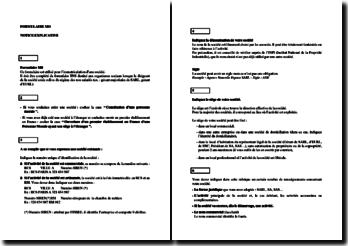 Création d'entreprise : présentation du formulaire d'immatriculation MO