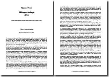 Sigmund Freud, Métapsychologie