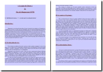 Maupassant, La Maison Tellier, Le papa de Simon : lecture analytique
