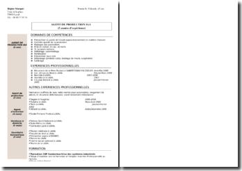Modèle de CV : Agent de production IAA