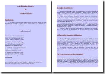 Rimbaud, Le Dormeur du Val : lecture analytique
