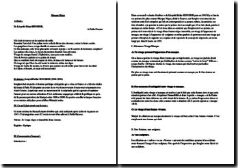 Léopold Sédar Senghor, Masque nègre : commentaire