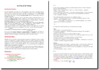 Baudelaire, Le fou et la Vénus : commentaire