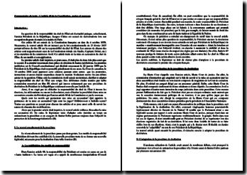 L'article 68 de la Constitution, ancien et nouveau