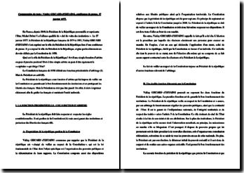 Commentaire sur la conférence de presse de Valéry Giscard d'Estaing du 17 janvier 1977