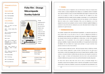Stanley Kubrick, Orange Mécanique : analyse