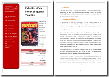 Quentin Tarantino, Pulp Fiction : analyse