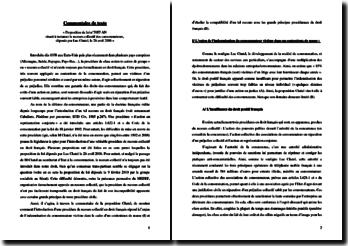 La proposition de loi Chatel sur les recours collectif