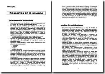 René Descartes et la science