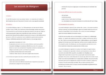 Les accords de Matignon