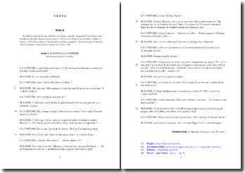 Beaumarchais, Le mariage de Figaro, Acte II Scène 1, Extrait : commentaire