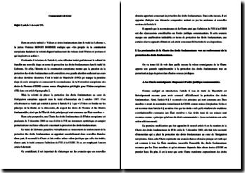 Commentaire de l'article 6 du Traité de Lisbonne (entré en vigueur en 2009)