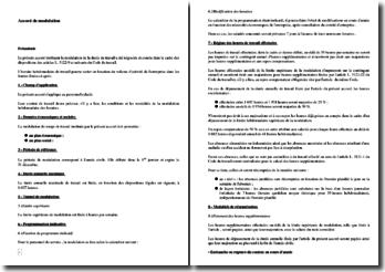 Exemple d'accord de modulation