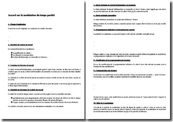 Exemple d'accord de modulation du temps partiel