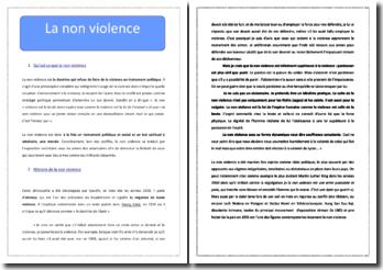 La non violence : définition, histoire et critiques