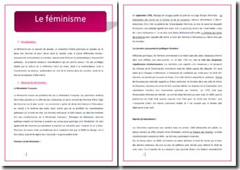 Le féminisme : histoire, courants, etc.