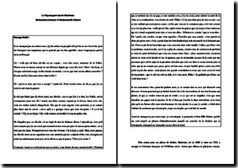 Marivaux, Le Paysan parvenu, La déclaration d'amour à Mademoiselle Habert : commentaire