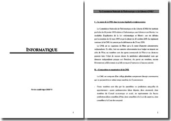 La Commission Nationale de l'Informatique et des Libertés (CNIL)