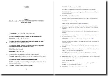 Beaumarchais, Le Mariage de Figaro, Acte V scène 19 : commentaire