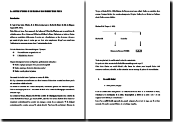 La lettre d'Eudes II de Blois au roi Robert II le Pieux