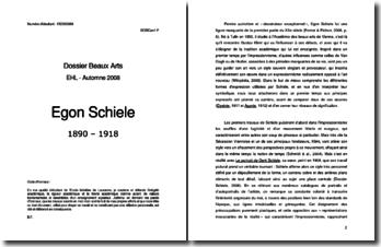 Egon Schiele : étude des formes d'expression et de la symbolique de l'oeuvre