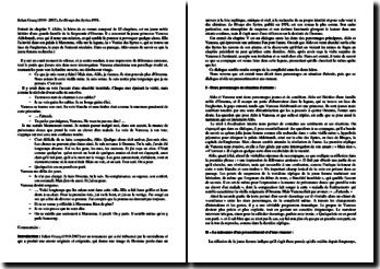 Julien Gracq, Rivage des Syrtes, Chapitre V : commentaire d'un extrait