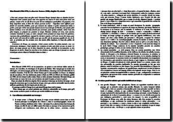 Dino Buzzati, Le Désert des Tartares, Chapitre XI : commentaire du début
