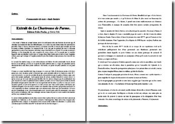 Stendhal, La Chartreuse de Parme, L'épisode du savant aux cheveux rouges : étude linéaire