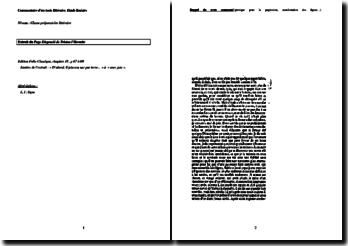 Tristan L'Hermite, Le Page disgracié, Chapitre 18 : commentaire d'un extrait
