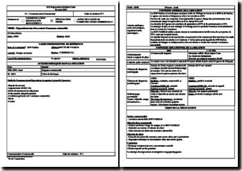 Fiche E4 BTS NRC : négociation/vente d'un contrat d'assurance automobile