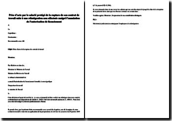 Prise d'acte par le salarié protégé de la rupture du contrat de travail suite à une réintégration non effectuée malgré l'annulation de l'autorisation de licenciement