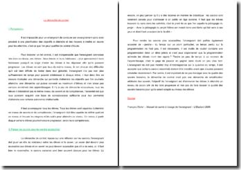 La démarche de contrat (CRPE)