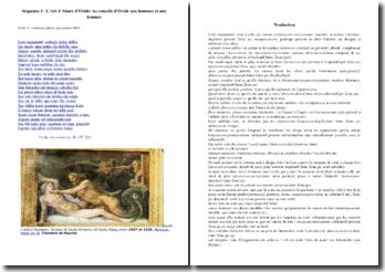 Ovide, L'Art d'aimer, II, 197-216 : traduction et commentaire
