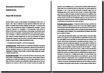 Rousseau, Du Contrat Social, Chapitre VIII et IX : commentaire