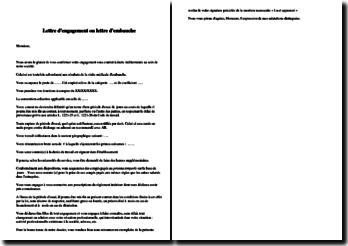 Lettre d'engagement ou lettre d'embauche en CDI