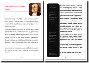 Fiche biographique de Flaubert