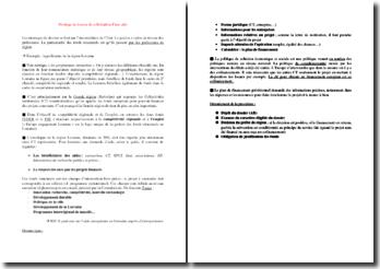 Montage de dossier de sollicitation d'une aide d'Etat