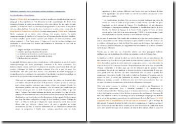 Indications sommaires sur les principaux systèmes juridiques contemporains : les classifications et leurs limites