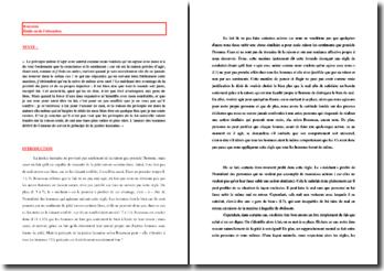 Rousseau, Emile, ou De l'éducation, Extrait : commentaire