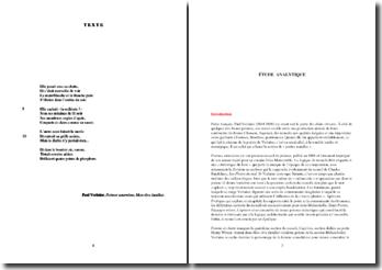 Verlaine, Poèmes saturniens, Femme et chatte : commentaire