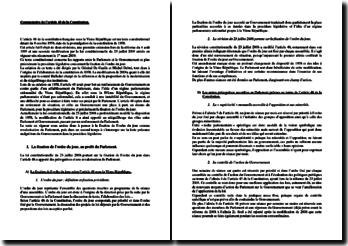 Commentaire de l'article 48 de la Constitution